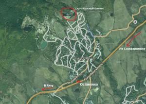 Карта с камнем